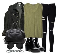"""""""Style #11151"""" by vany-alvarado ❤ liked on Polyvore featuring American Apparel, Miss Selfridge, T By Alexander Wang, Zara, Givenchy, Ray-Ban and Southwest Moon"""