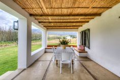 Guest House / Self Catering in Greyton / The Oaks Estate is a historic, recently restored Cape Dutch farmyard and working farm, with a mountain . Wine Barrel Table, Cape Dutch, Wine Quotes, Urban Architecture, Luxury Accommodation, Afrikaans, Beach House, Coastal, Pergola