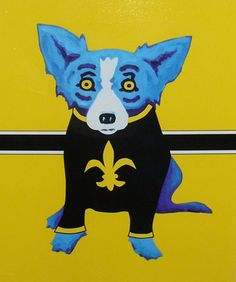 This is my favorite.   Of course the blue dog is a Saints fan :)