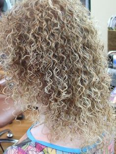tight perm texture with color