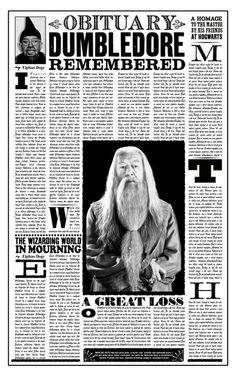 DP: Dumbledore Obituary by jhadha.deviantart.com on @DeviantArt