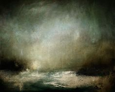 ARTFINDER: Darker Now by Kerr Ashmore - Atmospheric abstract landscape seascape inspired by my memories of home, being by the sea as the light fades and darkness falls over the day.