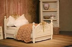 Bed antiek wit - Bed antique white