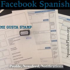 Facebook Profile Project for Spanish class! Includes template for Profile, Newsfeed, and Notifications pages in Spanish!