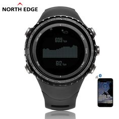 US $95.70 - NorthEdge Men's sport Digital watch Hour Men Gift Military wristwatch Altitude Barometer Compass Thermometer Pedometer altimeter