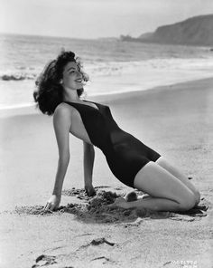 Ava Gardner. Being flawless. At the beach.