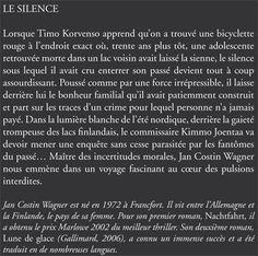 Jacqueline Chambon Noir - 2009-10 - Jan Costin Wagner - Le Silence - Verso