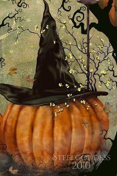 Autumn Decor - Pumpkin Art - Rustic Decor - Rustic Fall Decor - Pumpkin Decor - Thanksgiving Decor - Rustic Farmhouse - Farmhouse - Pumpkins Autumn Decor Pumpkin Art Rustic Decor Rustic by steelgoddess Retro Halloween, Halloween Kunst, Fröhliches Halloween, Samhain Halloween, Halloween Painting, Halloween Pictures, Holidays Halloween, Halloween Pumpkins, Halloween Decorations