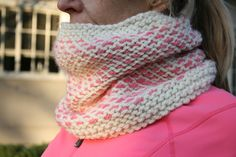 The Peppermint Candy Cowl is something I whipped up in about a night and a half to go with my mom's brand new running jacket. It uses just ...