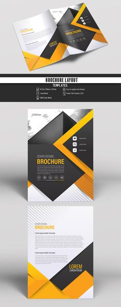 Brochure Layout With Gray And Orange Accents 20 Image Adobe