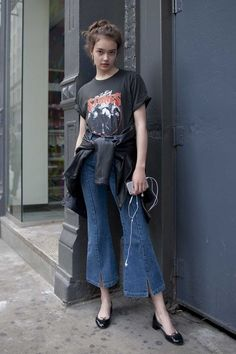 How to do cropped wide leg denim.