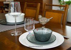 Astiat | Asuntomessut --- Iittala kastehelmi and essence and Arabia lumi and Hanna Korvela fabric...