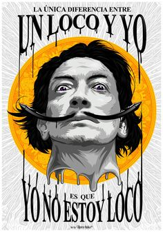 Salvador Dali - Vector Illustration by Bhiqm