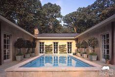 U Shaped House Plans, U Shaped Houses, Pool House Plans, House Plans One Story, Story House, Courtyard Pool, Courtyard Design, Zeina, Home Buying Tips
