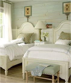 Cottage chic guest room