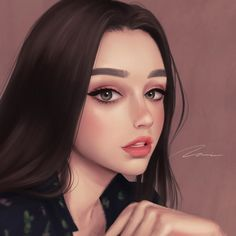 Cartoon Girl Images, Girl Cartoon, Cartoon Art, Digital Art Girl, Digital Portrait, Pretty Anime Girl, Anime Art Girl, Beauty Portrait, Portrait Art