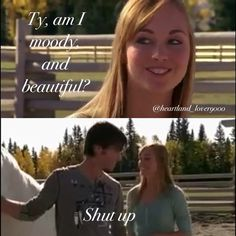 Ha ha she wants to know Amy And Ty Heartland, Watch Heartland, Heartland Quotes, Heartland Ranch, Heartland Tv Show, Heartland Season 1, Best Tv Shows, Best Shows Ever, Favorite Tv Shows