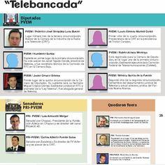 Miembros de la Telebancada en el Congreso al servicio de la televisión.