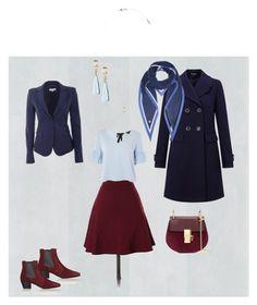 """Graduation outfit"" by bogina ❤ liked on Polyvore featuring LOFT, Topshop, Miss Selfridge, Patrizia Pepe, Chloé, Yves Saint Laurent, Orelia and Loro Piana"