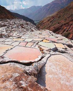 Salineras de Maras ~ Cusco, Peru. Photo by @enchanted.forest