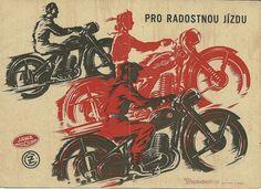 Vintage Advertising: Jawa and CZ Motorcycle Brochure | #Advertising #OldAdvertisements