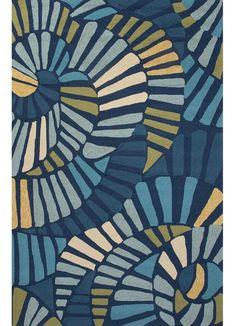 $420.00 Colours I-O Limoges/Vivid Blue Polypropylene Rug