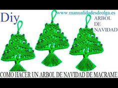 COMO HACER UN ARBOL DE NAVIDAD DE LANA (ESTAMBRE) CON NUDOS DE MACRAME. ...