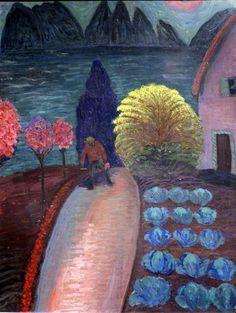 Marianne von Werefkin, Der gelbe Busch - The yellow bush (ca. 1925)