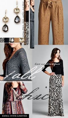 Fall, chic, and glamorous styles by Emma Stine Limited.