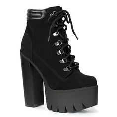 a78ab9147d4343 Lace-up ladies gothic combat boots with spiked strap