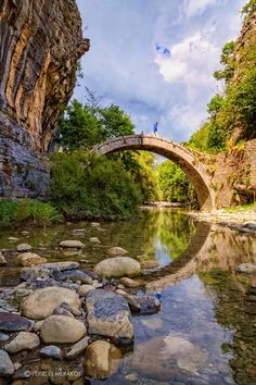 zagori Hiking Golf Courses, Greece, Most Beautiful, Explore, Mansions, Hiking Trips, House Styles, Water, Places