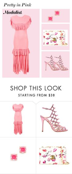 """Pretty in Pink Tiered Dress"" by modalist on Polyvore featuring Marni, Schutz, Kate Spade and Chanel"