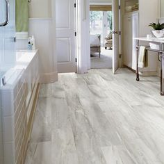 "Shaw Floors Easy Style 6"" x 36"" x 4mm Luxury Vinyl Plank in Coconut Milk"