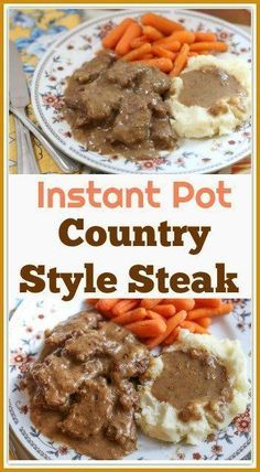 Country Style Instant Pot Cube Steak This is a step-by-step recipe on how to make delicious Instant Pot Country Style Steak. Country Style Steak is a favorite meal in many homes in the South. It is made with lightly battered cube steak that is cooked in a Country Style Steak, Southern Style, Kohl Steaks, Cube Steak And Gravy, Crock Pot Cube Steak, Fried Cube Steaks, Sauce Pizza, Steak Tacos, Carne Asada Steak