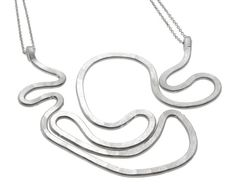 Sterling silver necklace, free form pendant by SidKassidy www.sidkassidy.com