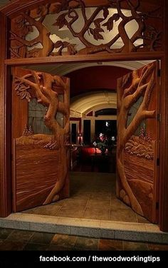 Carved Doors Wooden Ideas Wood Doors Are Warm and Welcoming Carved Doors Wooden Ideas. Custom wood doors, whether elegant or rustic, are a durable choice that can really set off the style of your h… Cool Doors, Unique Doors, Knobs And Knockers, Door Knobs, Door Hangers, Door Design, House Design, Window Design, Design Design