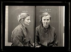 These women's mug shots are from the Sydney Justice & Police Museum, and they show mugshots at a time when degrading the subject wasn't a pe. Robert Mapplethorpe, Vintage Photographs, Vintage Photos, Vintage Portrait, Antique Pictures, Forensic Photography, Museum Collection, Mug Shots, Historical Photos