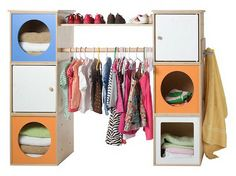 closet organizers for the kids...these are pricey but I bet I could figure out how to make them myself!!