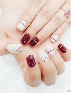 Fashionable Summer Nails Art Designs You'll Love - Nails C - Best Nail Art Asian Nails, Asian Nail Art, Diy Nail Designs, Pedicure Designs, Diy Design, Design Ideas, Design Art, Burgundy Nails, Perfect Nails