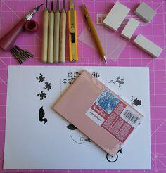 Bella Linke - Encadernação Artesanal e Cartonagem: Carimbo Artesanal (handmade stamp)