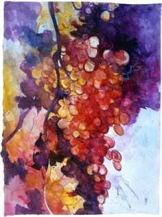 ARTFINDER: The big grape (La grande ciocca d'uva) by Alessandro Andreuccetti - This is my interpretation of a grape standing in front of my easel, while in a plein air session painting. I took several sketches and then, back on my studi...