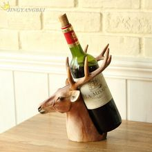 Fashion animal deer head Resin crafts wine rack home decoration accessories wedding Christmas gift //Price: $US $28.12 & FREE Shipping //   #watches #bracelets #rings #shirts #earrings #dress