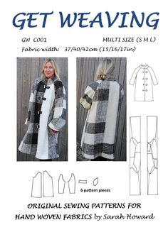 GW C001 S/M/L original lined raglan sleeved coat pattern for