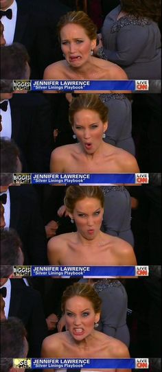 Jennifer Lawrence because she is awkward and hilarious.