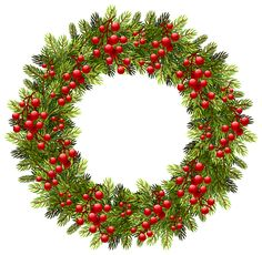decorative christmas wreath png clipart image pinterest rh pinterest com christmas wreaths clipart design clipart christmas wreath black and white