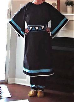 Details about Ladies Ribbon Dress w PURSE belt leggings pow wow regalia S to Native American Regalia, Native American Clothing, Native American Fashion, Jingle Dress, Powwow Regalia, Ribbon Skirts, T Dress, Pow Wow, Dress Patterns