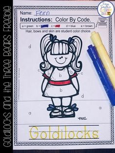 Fern's Freebie Friday - Goldilocks and the Three Bears for Kindergarten Week Small Group, Seatwork & Centers Freebie! Classroom Charts, Classroom Ideas, Classroom Tools, Kindergarten Classroom, Alphabet Cards, Alphabet And Numbers, Reading Centers, Math Centers, Elementary Teacher