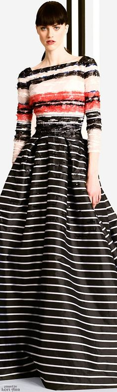 Carolina Herrera Pre-Fall 2016 This would be pretty with a black, full toole/chiffon skirt.