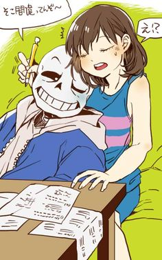 Sans x Frisk Undertale Undertale Movie, Undertale Memes, Undertale Ships, Undertale Cute, Undertale Fanart, Chibi Body, Sans X Frisk Comic, Frans Undertale, Rpg Horror Games