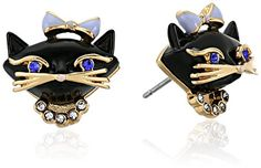 kate spade new york Cat Studs BlackMultiColored Stud Earrings >>> Find out more about the great product at the image link.(This is an Amazon affiliate link and I receive a commission for the sales)